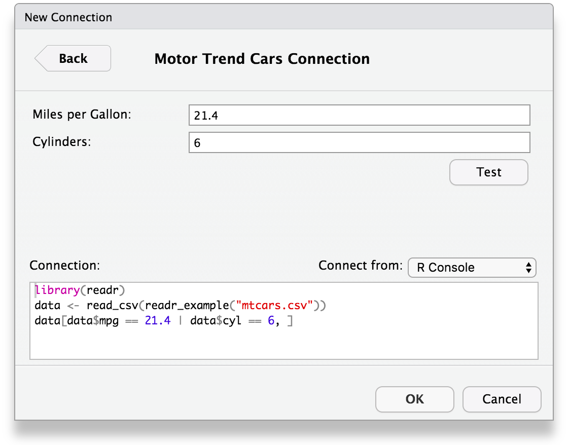 RStudio Connections